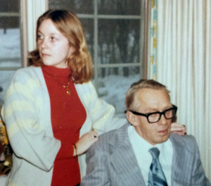 Debbie McClure (age seventeen) and Morfar (Grandfather Rasmussen) 1976